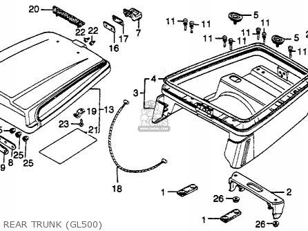 Honda Gl500 Silverwing 1982 c Usa Rear Trunk gl500