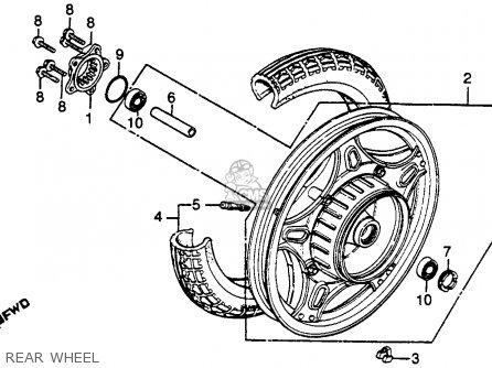 Honda Gl500 Silverwing 1982 c Usa Rear Wheel