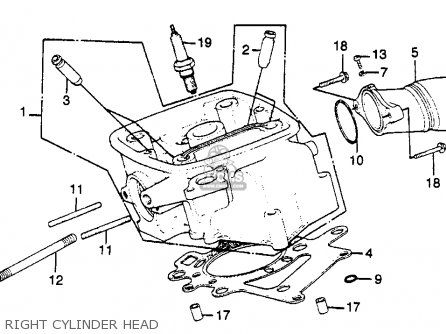 Honda Gl500 Silverwing 1982 c Usa Right Cylinder Head