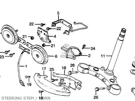 Honda Gl500 Silverwing 1982 c Usa Steering Stem   Horn