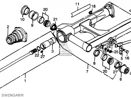 Honda Gl500 Silverwing 1982 c Usa Swingarm