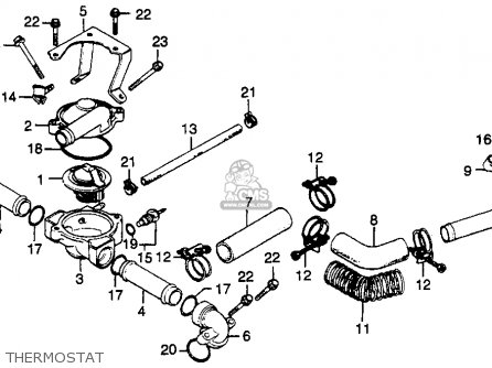 Honda Gl500 Silverwing 1982 c Usa Thermostat