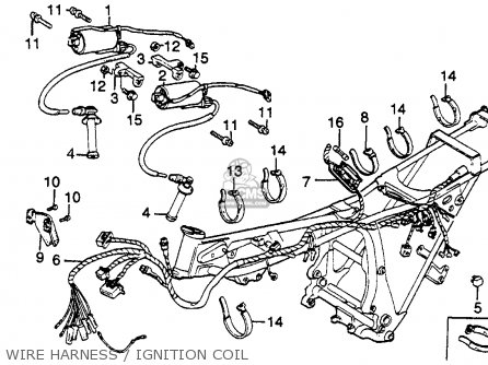 honda gl500 silverwing 1982 (c) usa parts lists and schematicswire harness ignition coil