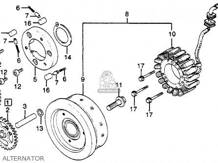 Honda Gl500i Silver Wing Interstate 1982 c Usa Alternator