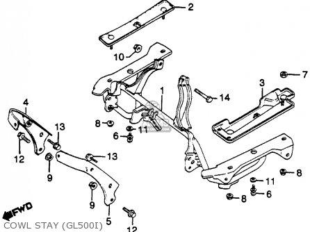 Honda Gl500i Silver Wing Interstate 1982 c Usa Cowl Stay gl500i