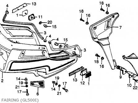 Honda Gl500i Silver Wing Interstate 1982 c Usa Fairing gl500i