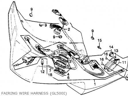 Honda Gl500i Silver Wing Interstate 1982 c Usa Fairing Wire Harness gl500i