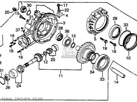 Honda Gl500i Silver Wing Interstate 1982 c Usa Final Driven Gear