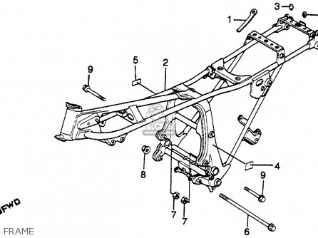 Honda Gl500i Silver Wing Interstate 1982 c Usa Frame