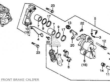 Honda Gl500i Silver Wing Interstate 1982 c Usa Front Brake Caliper