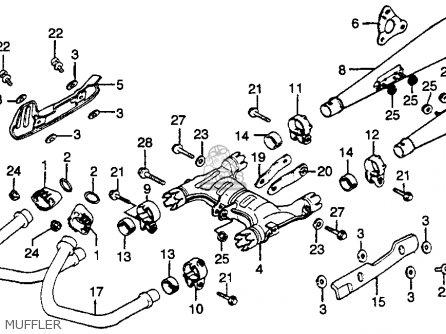 Honda Gl500i Silver Wing Interstate 1982 c Usa Muffler