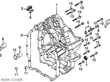 Honda Gl500i Silver Wing Interstate 1982 c Usa Rear Cover
