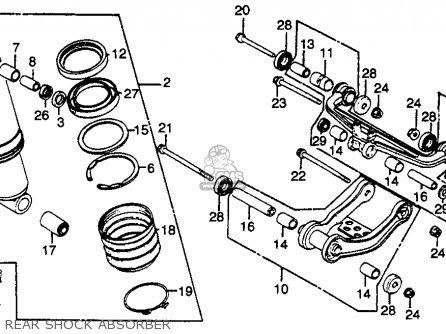 Honda Gl500i Silver Wing Interstate 1982 c Usa Rear Shock Absorber