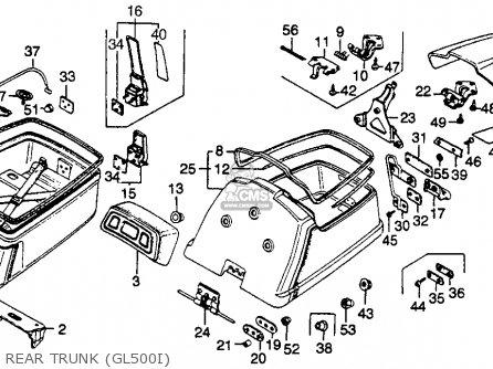 Honda Gl500i Silver Wing Interstate 1982 c Usa Rear Trunk gl500i