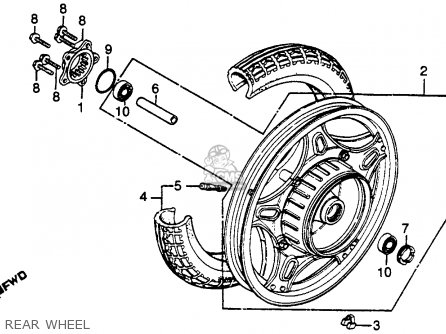 Honda Gl500i Silver Wing Interstate 1982 c Usa Rear Wheel