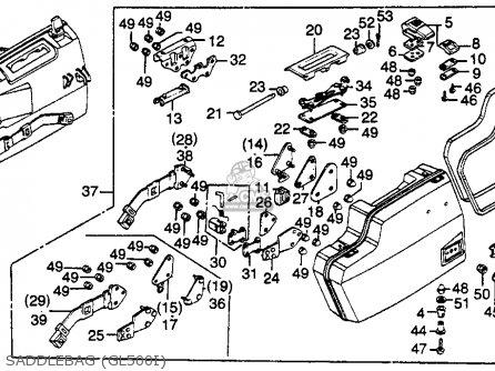 Honda Gl500i Silver Wing Interstate 1982 c Usa Saddlebag gl500i
