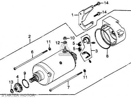 Honda Gl500i Silver Wing Interstate 1982 c Usa Starter Motor