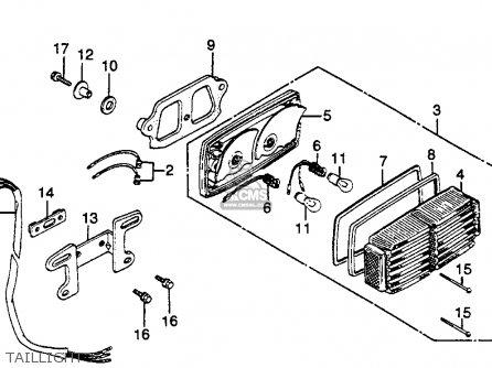 Honda Gl500i Silver Wing Interstate 1982 c Usa Taillight