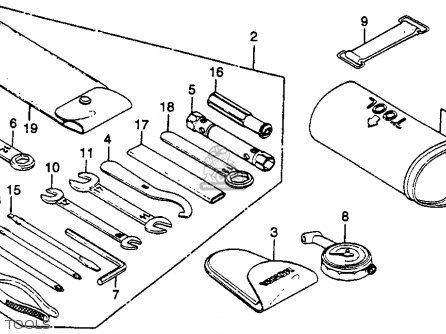 Honda Gl500i Silver Wing Interstate 1982 c Usa Tools