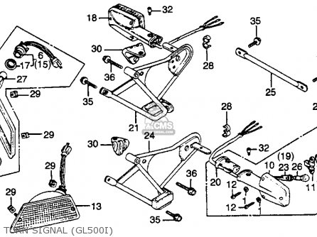 Honda Gl500i Silver Wing Interstate 1982 c Usa Turn Signal gl500i