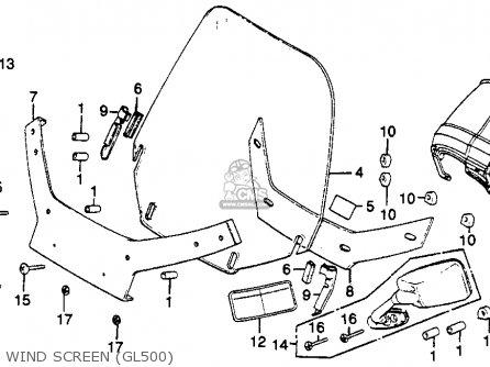 Honda Gl500i Silver Wing Interstate 1982 c Usa Wind Screen gl500