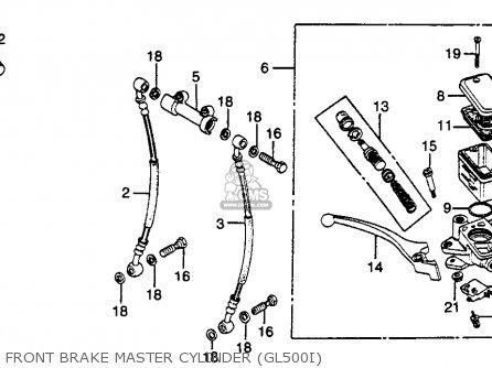 Honda Gl500i Silver Wing Interstate 1982 Usa Front Brake Master Cylinder gl500i
