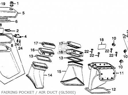 Honda Gl500i Silverwing Interstate 1982 c Usa Fairing Pocket   Air Duct gl500i