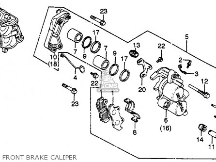 Honda Gl500i Silverwing Interstate 1982 c Usa Front Brake Caliper