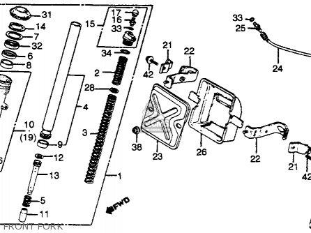 Honda Gl500i Silverwing Interstate 1982 c Usa Front Fork