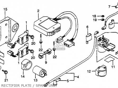 Honda Gl500i Silverwing Interstate 1982 c Usa Rectifier Plate   Spark Unit