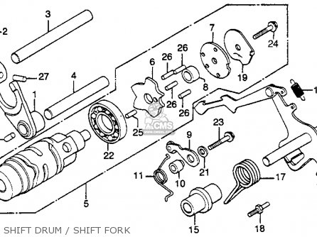 Honda Gl500i Silverwing Interstate 1982 c Usa Shift Drum   Shift Fork