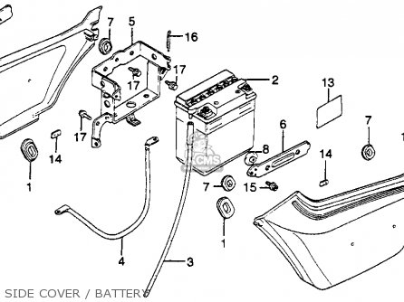 Honda Gl500i Silverwing Interstate 1982 c Usa Side Cover   Battery