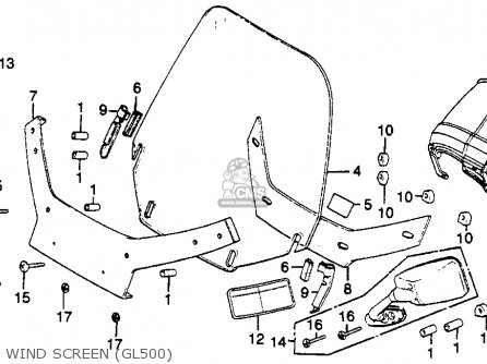 Honda Gl500i Silverwing Interstate 1982 c Usa Wind Screen gl500