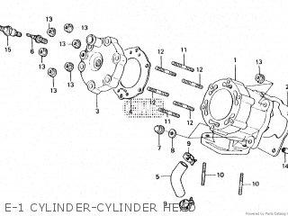 honda ls125r e-1 cylinder-cylinder head  e-1 cylinder-cylinder head