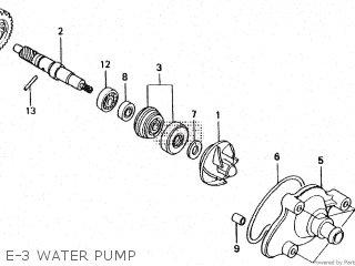 honda ls125r e-3 water pump  e-3 water pump
