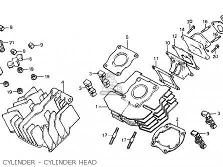 CYLINDER - CYLINDER HEAD - MF50F 1980 (A) SWITSERLAND