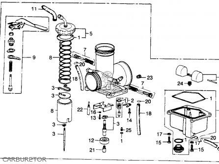 Honda Mr250 Elsinore 1976 Usa Carburetor