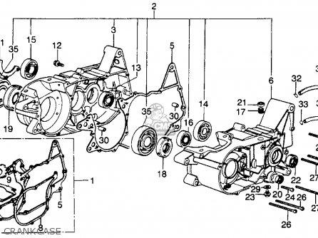Honda Mr250 Elsinore 1976 Usa Crankcase