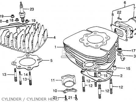 Honda Mr250 Elsinore 1976 Usa Cylinder   Cylinder Head