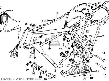 Honda Mr250 Elsinore 1976 Usa Frame   Wire Harness