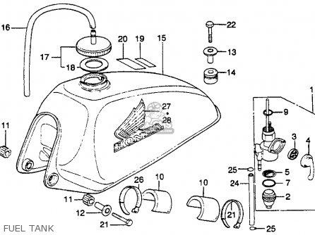 Honda Mr250 Elsinore 1976 Usa Fuel Tank