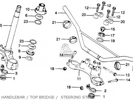 Honda Mr250 Elsinore 1976 Usa Handlebar   Top Bridge    Steering Stem