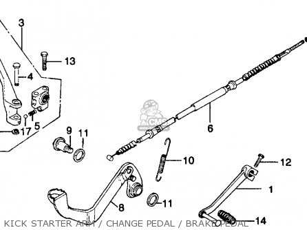 Honda Mr250 Elsinore 1976 Usa Kick Starter Arm   Change Pedal   Brake Pedal