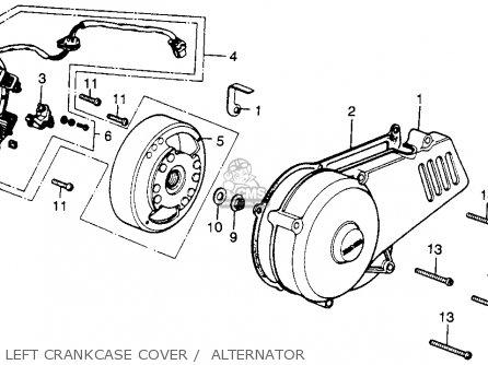 Honda Mr250 Elsinore 1976 Usa Left Crankcase Cover    Alternator