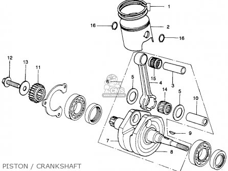 Honda Mr250 Elsinore 1976 Usa Piston   Crankshaft