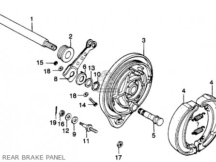 Honda Mr250 Elsinore 1976 Usa Rear Brake Panel