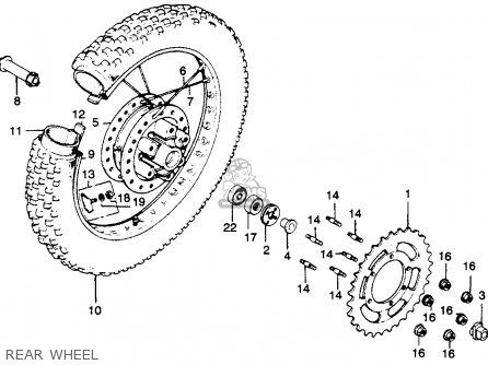 Honda Mr250 Elsinore 1976 Usa Rear Wheel