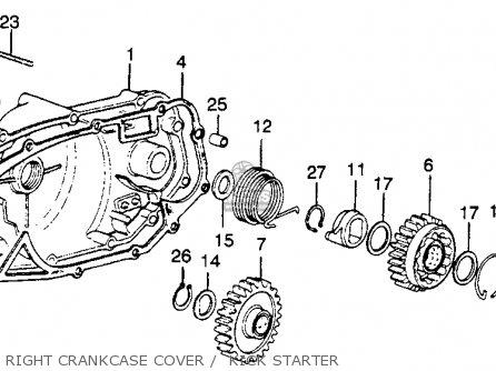 Honda Mr250 Elsinore 1976 Usa Right Crankcase Cover    Kick Starter