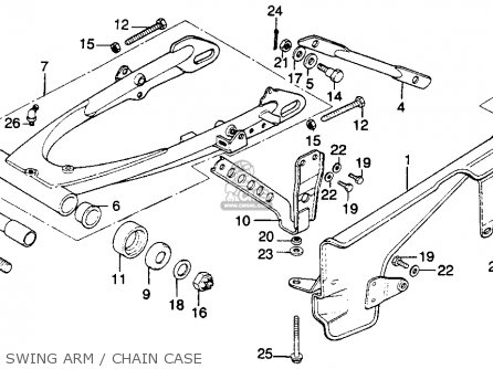 Honda Mr250 Elsinore 1976 Usa Swing Arm   Chain Case