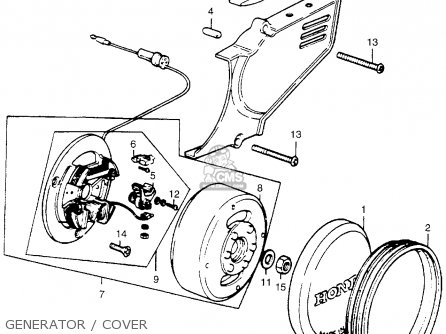Generator Wiring Diagram Honda Z50 Chinese Mini Chopper Wiring